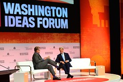 U.S. Secretary of State John Kerry participates in the 8th annual Washington Ideas Forum presented by The Atlantic and Aspen Institute, at the Harman Center of Arts in Washington, D.C.on September 29, 2016.  [State Department Photo/ Public Domain]