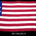Small photo of Crocheted American Flag