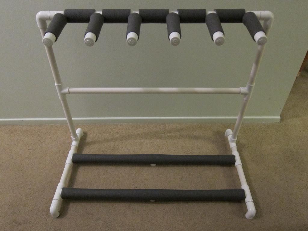 how to make a pvc guitar rack stand. Black Bedroom Furniture Sets. Home Design Ideas