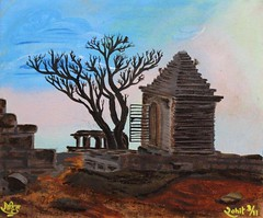 Oil painting on canvas; Inspired by a picture I clicked on Hemkunt hills in Hampi