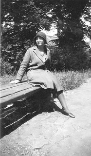 woman on a bench 1931