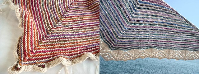 shawls with Regia yarn