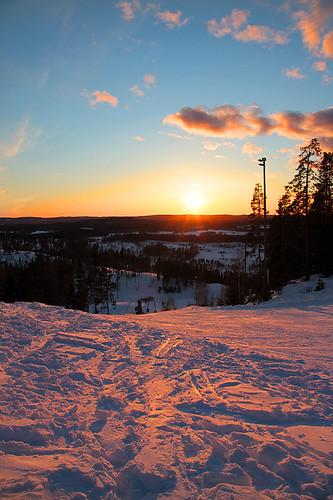bridge sunset suomi finland solar april himos jämsä