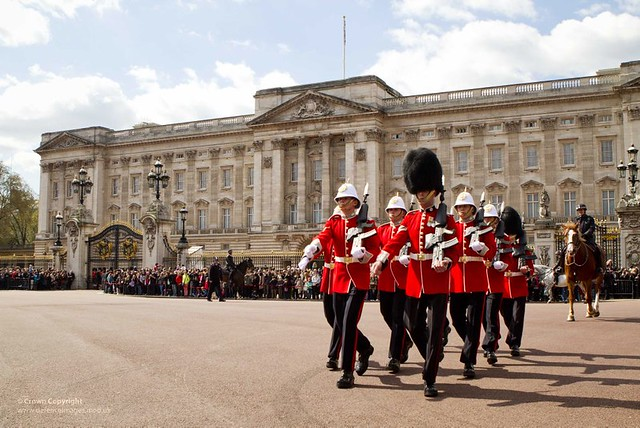 Royal Gibraltar Regiment Soldiers Take Part in Changing the Guard Ceremony at Buckingham Palace