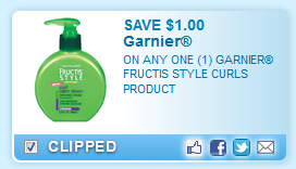 Garnier Fructis Style Curls Product  Coupon