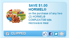 Hormel Compleats Kid Meals Coupon