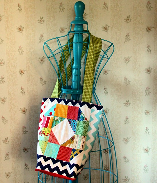 Patchwork Wheel Tote