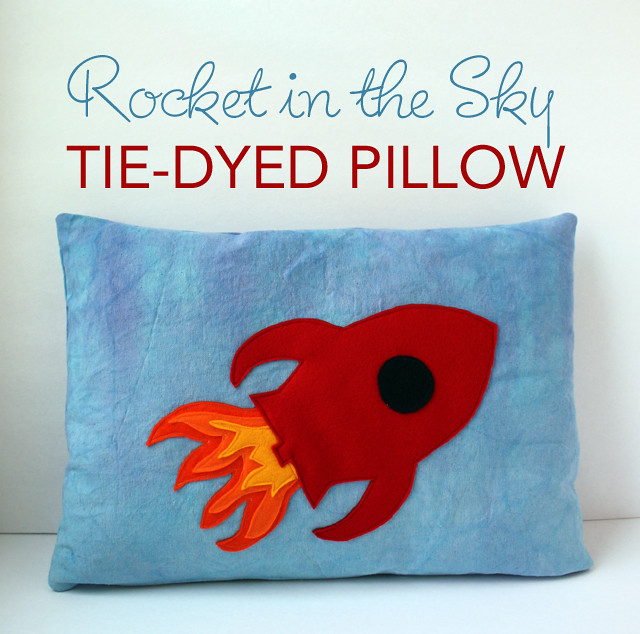 Rocket in the Sky Pillow