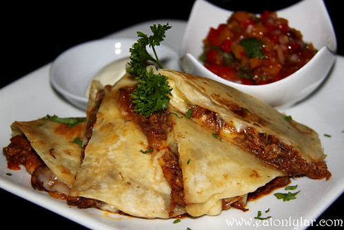 Cuban Pulled Pork Quesadillas, D Legends Bar