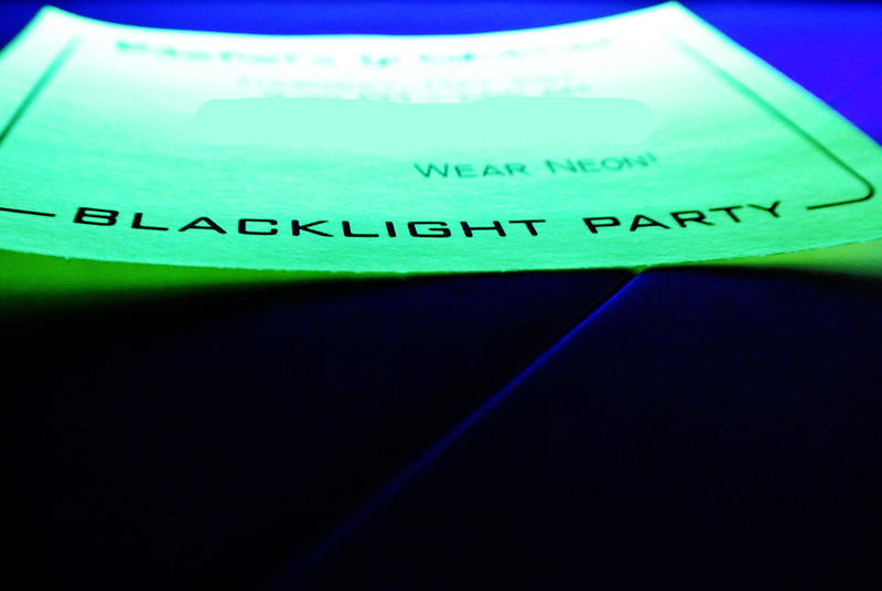 Blacklight Party Invites