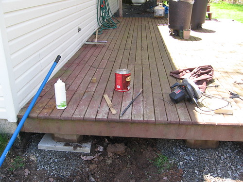 Project: Jacking up the deck