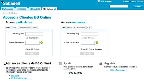 Acceso a BS Online