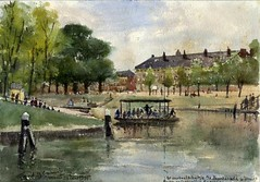 <p>Stadsbuitengracht, westzijde, zicht op Catherijnesingel en Paardenveld. Coll. Het Utrechts Archief.</p>