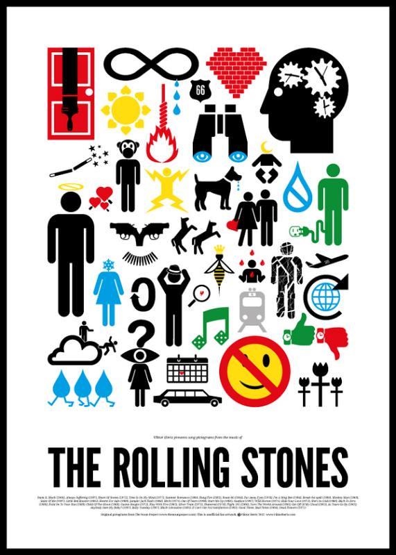 Dia Mundial do Rock e o Pictograma do Rock Rolling Stones