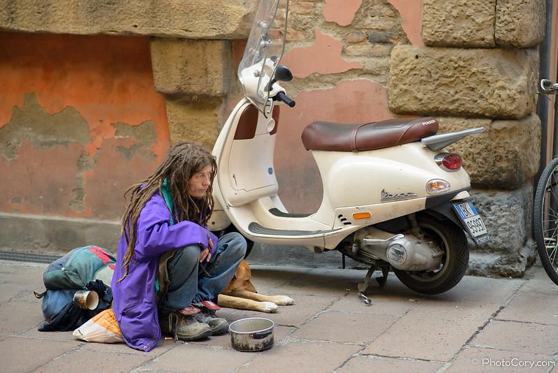 Beggar in Bologna