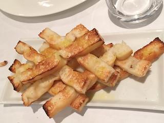 Panes con aceite para el paté