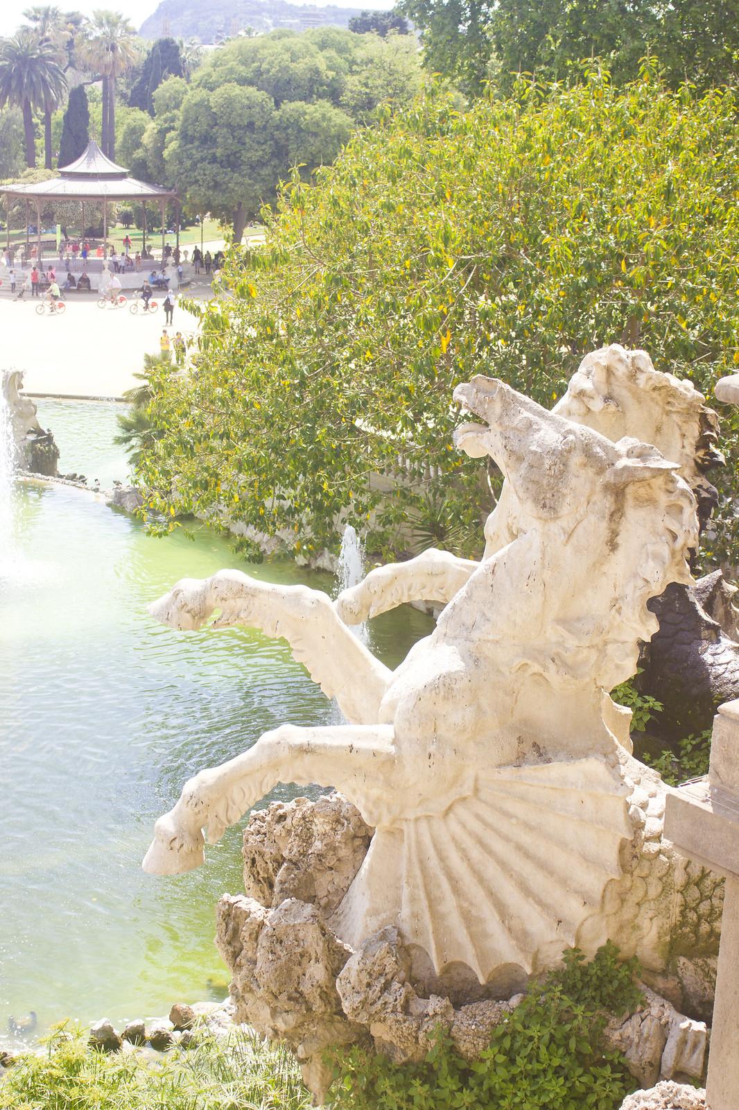 details from Parc de la ciutadella in barcelona