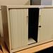 Low cream tambour unit with shelf