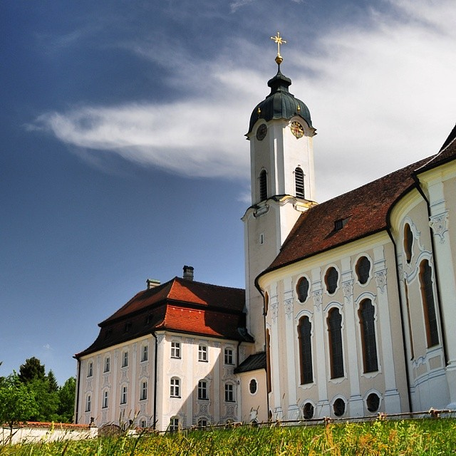 Meadow church - Wieskirche : 18th century Bavarian church.
