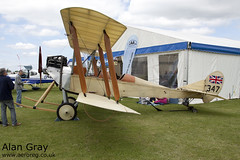 G-AWYI ROYAL AIRCRAFT FACTORY BE2C (replica) 001 PRIVATE -Sywell-20130601-Alan Gray-IMG_6468
