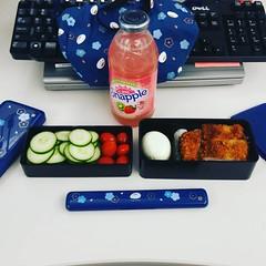 lunch today #badfoodphotography #omnomnom #bento