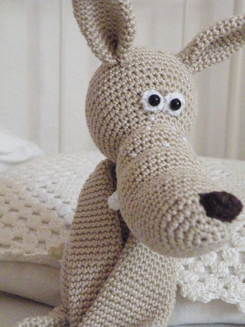 2011_0609 Wolf, amigurumi, crocheted, gehakelter ...