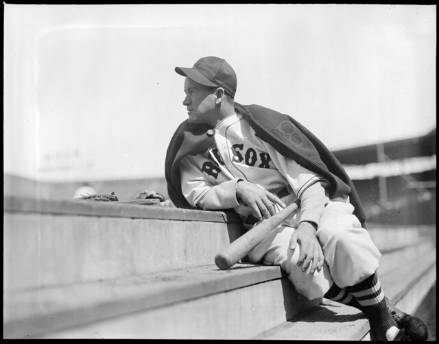 Joe Cronin, Boston Red Sox, on dugout steps