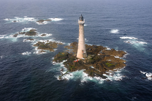 An aerial view of Skerryvore (Scotland's tallest) Lighthouse