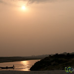 Sunset Over Ganges (or Padma) River - Rajshahi, Bangladesh