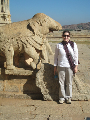 Heather at Hampi