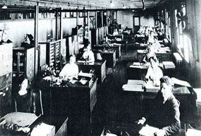 Employees of the Bureau of Agricultural Economics (circa 1930), predecessor agency of the Economic Research Service.