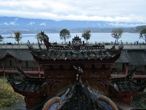 voiw from Shibaozhai Pagoda along Yangtze