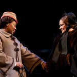 Jacqui Parker (Elizabeth Keckley) and Karen MacDonald (Mary Todd Lincoln) in the Huntington Theatre Company's production of Paula Vogel's A CIVIL WAR CHRISTMAS: AN AMERICAN MUSICAL CELEBRATION playing at the BU Theatre. Part of the 2009-2010 season.