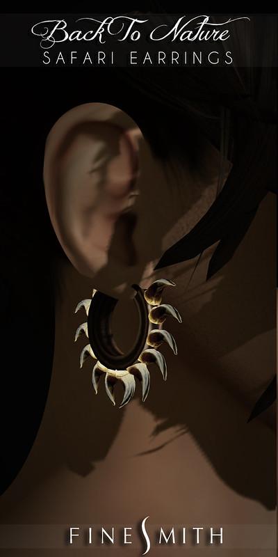 FINESMITH SAFARI MEN EARRINGS