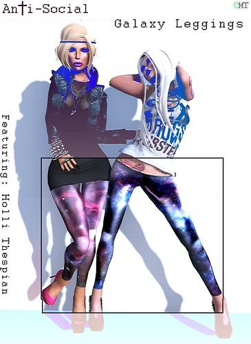 AnTi-Social - Galaxy Leggings
