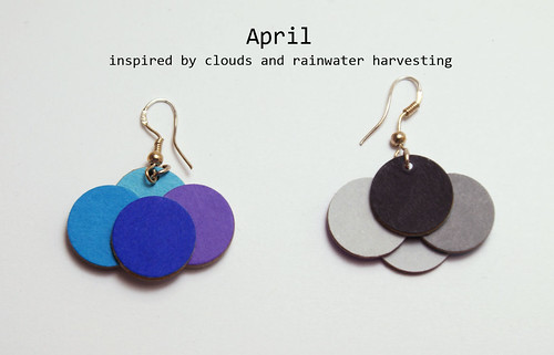 Paper Earrings - April