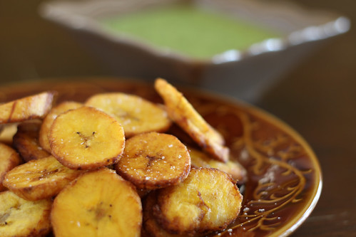 Fried Plantains or Tostones with Spicy Aji Salsa 8