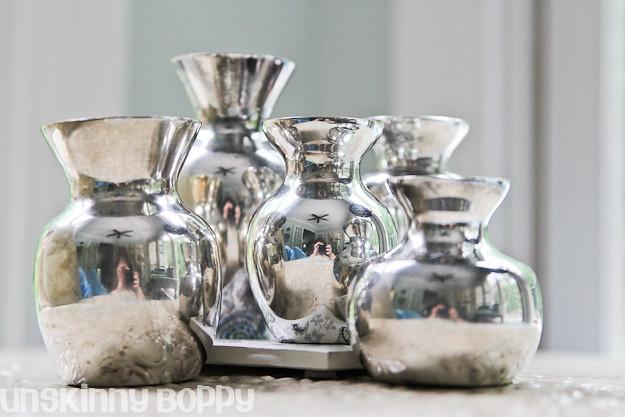 Silver Mini Vases  (1 of 3)