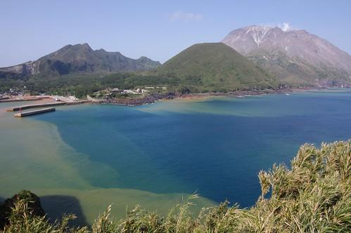 sea mountain japan port island volcano kagoshima mishima da1645mm 薩摩硫黄島 三島村