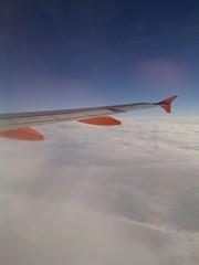 Easyjet aeroplane wing