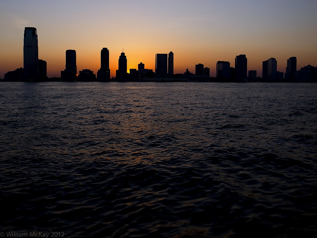 20120416 - Sunset over Jersey City (Explored)