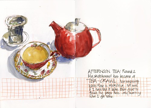 120421 Sketchcrawl35_08 Afternoon Tea round 2