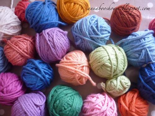 Vintage cotton crochet bowls