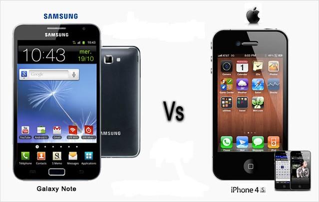 Apple iPhone 4S vs Samsung Galaxy note | Apple iPhone 4S ...
