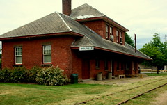The old Wolfville train station