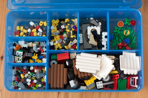 LEGO storage for the young builder