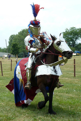 Fifteenth century knight in tournament armor