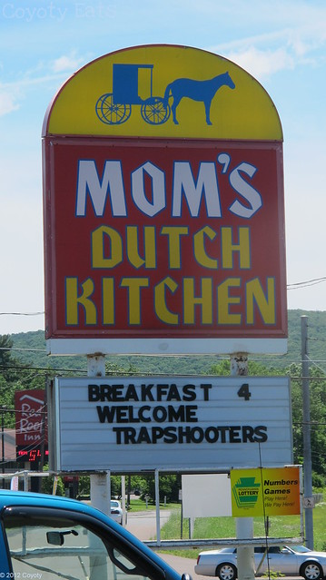 Mom's Dutch Kitchen sign