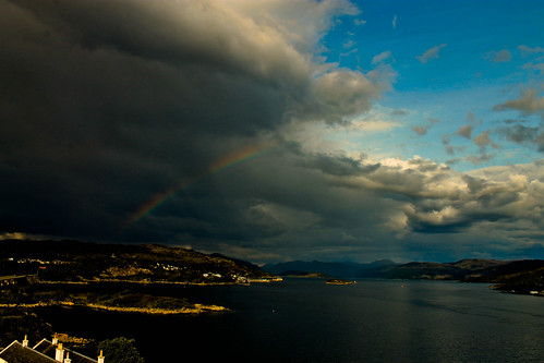Storm leaving Kyle of Lochalsh by leeb.black