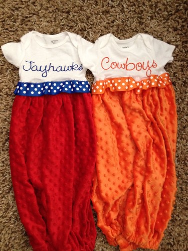 Onesie Gowns - KU vs OSU